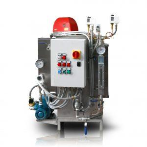 Generatore di vapore da 120kg/h esente da patentato completo di bruciatore a gasolio - Compact steam boiler 150kg/h 5 bar pressure