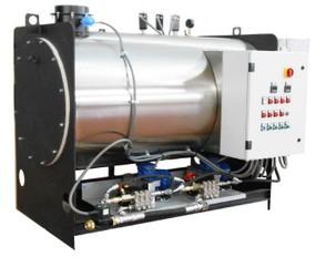 Generatore di vapore a serpentino da 2000kg/h e 12 bar di pressione alimentazione gas/gasolio.